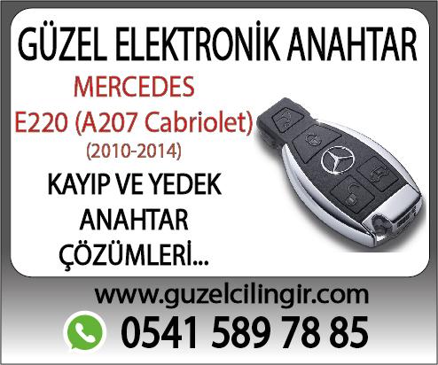 Mercedes A207 Cabriolet E220 Kayıp ve Yedek Anahtar