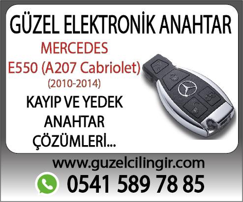 Mercedes A207 Cabriolet E550 Kayıp ve Yedek Anahtar