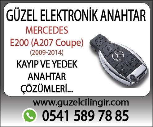 Mercedes A207 Coupe E200 Kayıp ve Yedek Anahtar