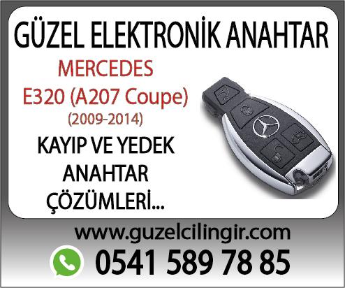 Alanya Mercedes A207 Coupe E320 Kayıp ve Yedek Anahtar