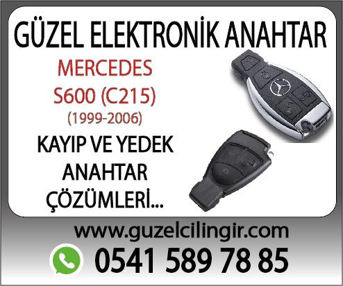 Alanya Mercedes C215 Cabriolet S600Yedek Anahtar
