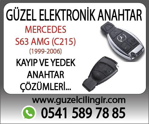 Mercedes C215 Cabriolet S63 Yedek Anahtar