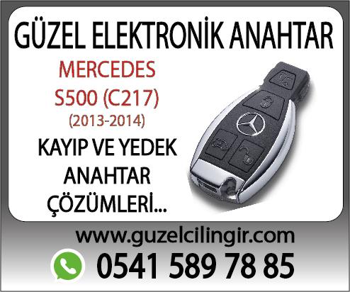 Alanya Mercedes C217 S500 Yedek Anahtar