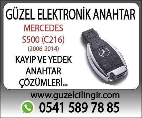 Alanya Mercedes C216 S500 Yedek Anahtar