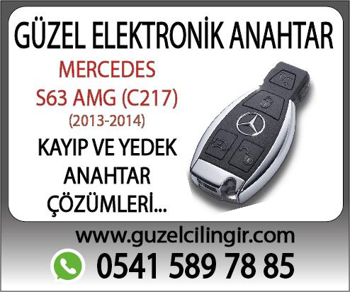 Alanya Mercedes C217 S63 Yedek Anahtar