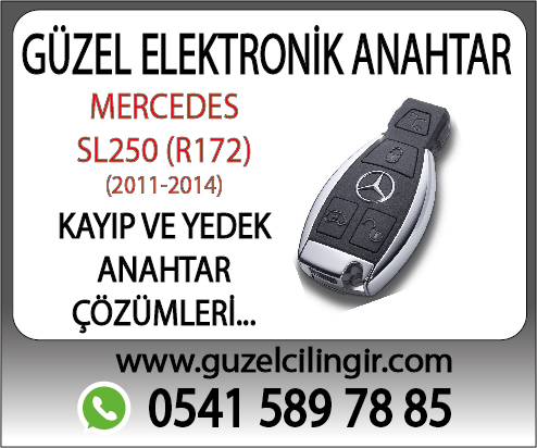 Alanya Mercedes R172 SL250 Yedek Anahtar