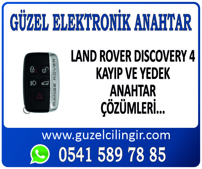 Alanya Land Rover Discovery 4 Yedek Anahtar