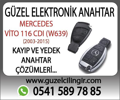 Alanya Mercedes Vito W639 116 CDI Yedek Anahtar