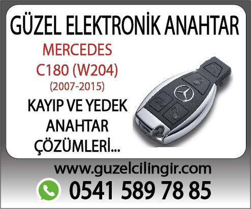 Alanya Mercedes W204 C180 Yedek Anahtar