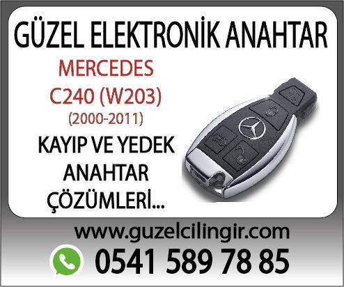 Alanya Mercedes W203 C240 Yedek Anahtar