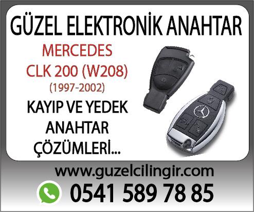 Alanya Mercedes W208 CLK200 Yedek Anahtar