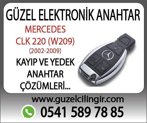 Alanya Mercedes W209 CLK220 Yedek Anahtar