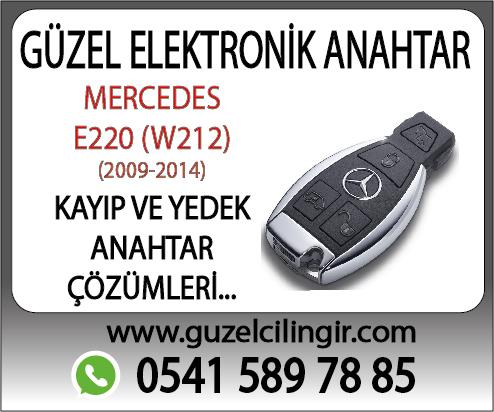 Alanya Mercedes W212 E220 Yedek Anahtar