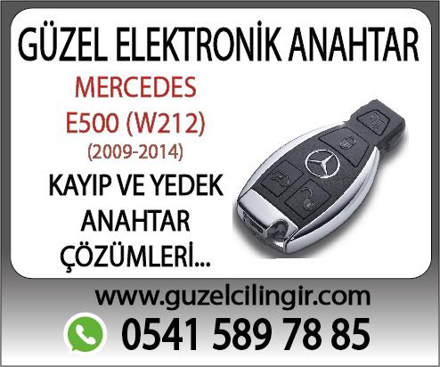 Alaanya Mercedes W212 E500 Yedek Anahtar